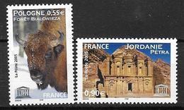 France 2005 Service N° 132/133 Neufs UNESCO à La Faciale - Service