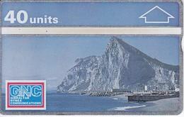 Nº 6  TARJETA DE GIBRALTAR DE NORTH FACE OF THE ROCK  NUEVA-MINT - Gibraltar