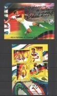 TG551 2014 TOGO TOGOLAISE SPORT FOOTBALL WORLD CUP BRAZIL CHAMPIONS GERMANY !!GOLD TEXT KB+BL MNH - Coppa Del Mondo