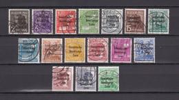 Sowjetische Zone - Allgemeine Ausgaben - 1948 - Michel Nr. 182/197 - Gest. - Sowjetische Zone (SBZ)