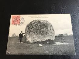 AVRILLÉ Menhir Du Champ Du Rocher, Cube 37m50 Et Pese Plus De 103.000 Kos - 1905 Timbrée - France
