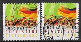 BRD 2012  Mi.Nr. 2930 + 2936 , Fussball Begeistert - Gestempelt / Fine Used / (o) - BRD