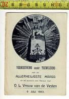 KL 10542 - VERNIEUWING ONZER TOEWIJDING AAN DE ALLERHEILIGSTE MAAGD 1943 - Images Religieuses