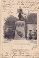 10. AIX EN OTHE .CPA.  MONUMENT AUX ENFANTS DU CANTON MORTS SOUS LES DRAPEAUX DE 1870 A 1900. ANNEE 1903 + TEXTE - France