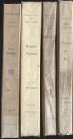 Lot De 4 Livres Romans Auteurs Classiques Divers  De 1933 à 1946 - Loten Van Boeken