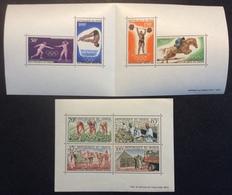 BF33 Niger Bloc Feuillet 2 Campagne Arachidière + Bloc Feuillet 6 Jeux Olympiques Mexico 1968 Lot 2 Bloc - Niger (1960-...)