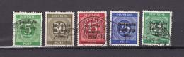 Sowjetische Zone - Allgemeine Ausgaben - 1948 - Michel Nr. 207/211 - Gest. - Sowjetische Zone (SBZ)