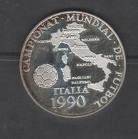 ANDORRA 1 MONEDA DE PLATA  Nº 64 CAMPEONAT MUNDIAL DE FUTBOL ITALIA 1990. SERVEI D'EMISSIÓNS  (E.M. - Andorra