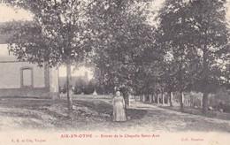 10. AIX EN OTHE .CPA.  ANIMATION. ENTRÉE DE LA CHAPELLE SAINT AVIT. - France