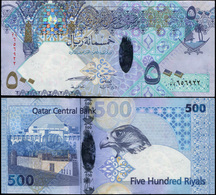 Qatar 500 Riyals. ND (2007) Hybrid Unc. Banknote Cat# P.27a - Qatar