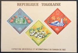 BF35 Togo Bloc Feuillet 26 Exposition Universelle Et Internationale Du Canada De 1967 Poste Aérienne - Togo (1960-...)