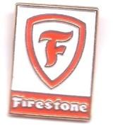V181 Pin's PNEU FIRESTONE Bridgestone Uniroyal Fond Blanc Achat Immédiat - Sonstige