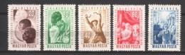 Hungary 1949 Mi 1048-1052 MNH - Ungarn