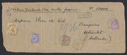 émission 1884 - N°48, 50, 51 Et 52 Sur DEVANT Assuré (10000 Frs, 9 Port) De St-Nicolas Vers Utrecht. Superbe ! - 1884-1891 Leopoldo II