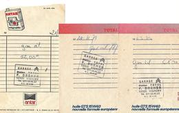 Lot De 6 Facturettes / 52 VIGNORY / DREHER Agent Citroën / Pub Total, Antar, Huile GTS - Frankrijk