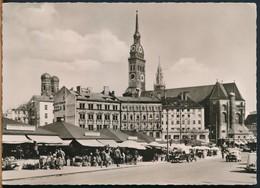 °°° 17668 - GERMANY - MUNCHEN - VIKTUALIENMARKT U. PETERSKIRCHE - 1968 With Stamps °°° - Muenchen