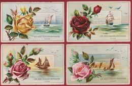 Chromo Carte Publicitaire - Lyon - Aux Deux Passages Nouveautes Rose Voilier Flower Fleur Bloem Reclame Publicite Pub - Altri