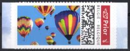 Belgium 2020 Prior Theme Stamp MNH, Colorful Hot Air Balloon Montgolfière Luftballon Luchtballon - Fesselballons