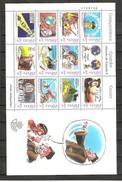 Año 2001 Nº 3822/33 Correspondencia Epistolar Escolar (MNH) - Blocs & Hojas