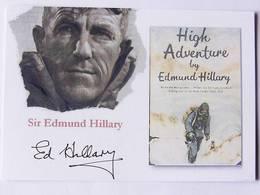 Carte Postale  - Sir Edmund HILLARY - Dédicace - Hand Signed - Autographe Authentique  - - Alpinisme