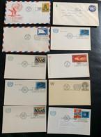 9961 - Lot 10 Entiers Postaux Neuf Et Oblitérés 1958 -1973 - New-York - Siège De L'ONU