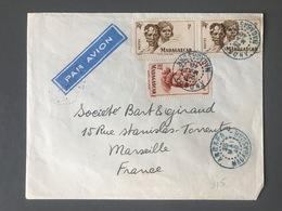 Madagascar, Lettre De ANDAPA (cachet Bleu) 1948 Pour Marseille - (C1104) - Covers & Documents
