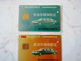 2 CARTES A PUCE CHINA VOITURE - Voitures