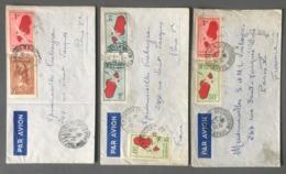 Madagascar, Lot De 3 Lettres Poste Aérienne - (C1107) - Storia Postale