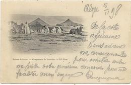 SAHARA  ALGERIEN   CAMPEMENT DE NOMADES   (ECRITE  1898   ) - Algérie