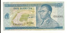 Congo 10 Makuta 1967 VF - Republiek Congo (Congo-Brazzaville)