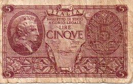 Italie - Biglietto Di Stato - 5 Lires - Italië