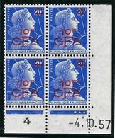 Réunion - Thématique Marianne De Muller - N° 337 ** Bloc De 4 Coin Daté - TTB - Bel Ensemble - CFA - - Ongebruikt