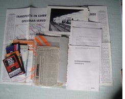 Dossier Sur Le Metro De Bruxelle Avec De Nombreux Plan  De 1973 à 1976 Innauguration + Articles De Journaux.... - Transport