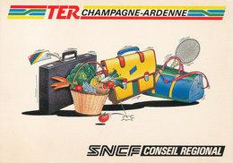 Ter Champagne Ardenne ,sncf Conseil Regional Tarf Avec Renseignement Au Dos 1988 - Cartes Postales