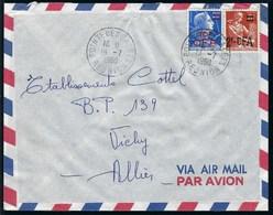 Réunion - Thématique Marianne De Muller - N° 337 + 337A Sur Lettre  - TTB - CFA - Mixte - Ungebraucht