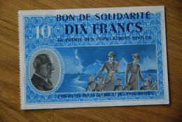 Bon De Solidarité Petain Sans Serie 10 Francs - Buoni & Necessità