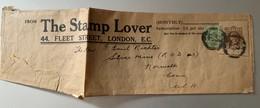 9971 -  Bande De Journal The Stamp Lover Affranchissement Timbre + Découpe D'entier Postal Cachet F.S: - Autres