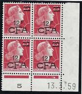 Réunion - Thématique Marianne De Muller - N° 337A ** Dont Un Coin Daté Bloc De 4 - TTB - CFA - Ongebruikt