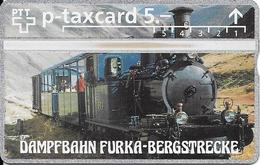 Switzerland: PTT KP-93/132 308L Dampfbahn Furka-Bergstrecke - Suisse