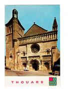 Cpm - 79 - Thouars - L'église Saint Médard - Artaud 3 - 1983 - Blason - Voiture 4L RENAULT - Thouars