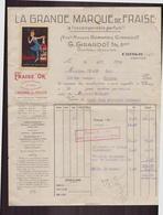 """Facture """" Fraise D'or à Chissay """" Du 22 Août 1930 Pour Orléans - Frankrijk"""