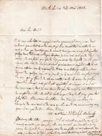1822 MONTAUBAN - Lettre à M. ABRIC Pasteur à VALLERAUGUE (30) - Historische Dokumente