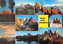 Cartolina Dolomiti Vedute Delle Cime 1983 - Trento