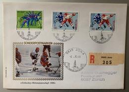9979 -  Championnat Du Monde 1990 Lettre Recommandée Jona 06.03.1990 - Hockey (sur Glace)
