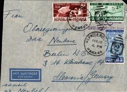 ! Panama, Luftpostbrief Air Mail, Por Avion, Aereo,  Nach Berlin, Sport Stamps, Boxing, Baseball, Boxen Football Fußball - Panama