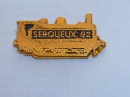 Pin's LOCOMOTIVE GARE DE SERQUEUX 92 - TGV