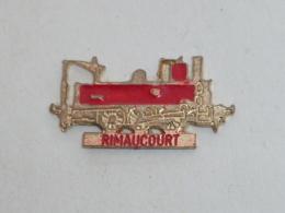 Pin's LOCOMOTIVE RIMAUCOURT - TGV