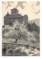 25338 - Suisse Ortenstein Carte Publicitaire Agence Chemins Fers Federaux MONO Format 16X11cm - Publicités