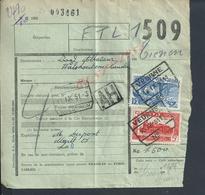 BELGIQUE DOCUMENT SUR TIMBRES CHEMIN DE FER TAMPON TIENEN X VEURNE CACHET AH : - Railway