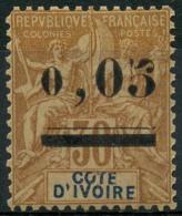 Côte D'ivoire (1904) N 18 * (charniere) - Nuevos